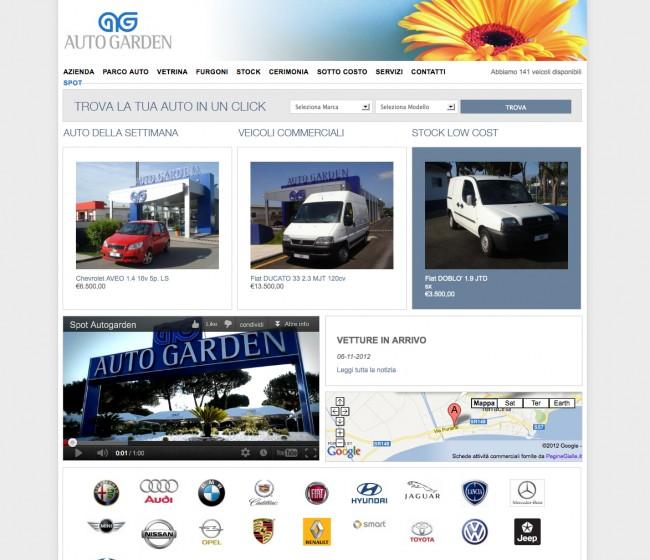 Sito Web Autogarden