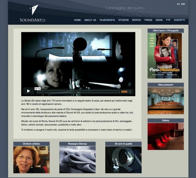 Sito Web SoundArt